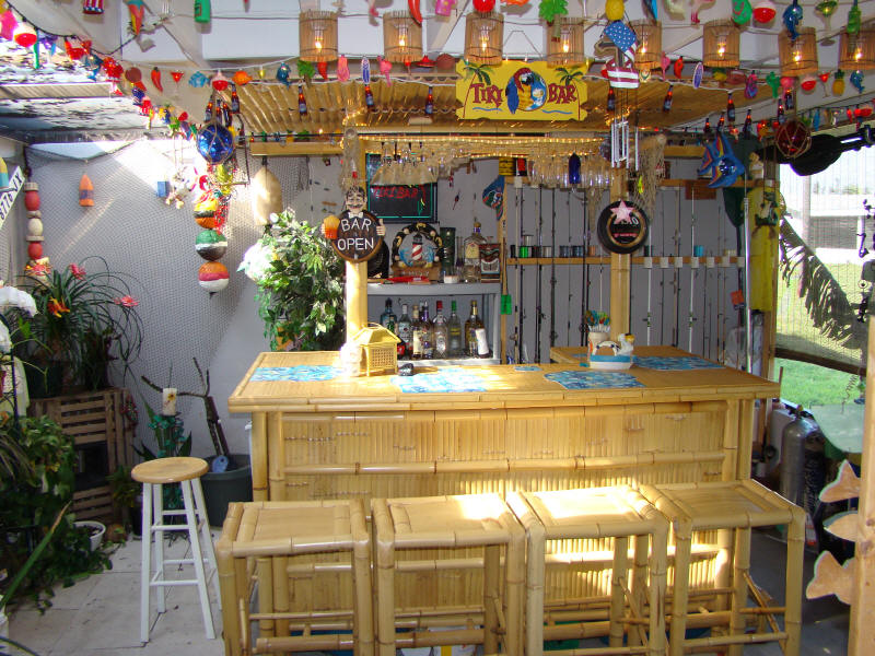 Awesome Our Patio Tiki Bar (May 2008)